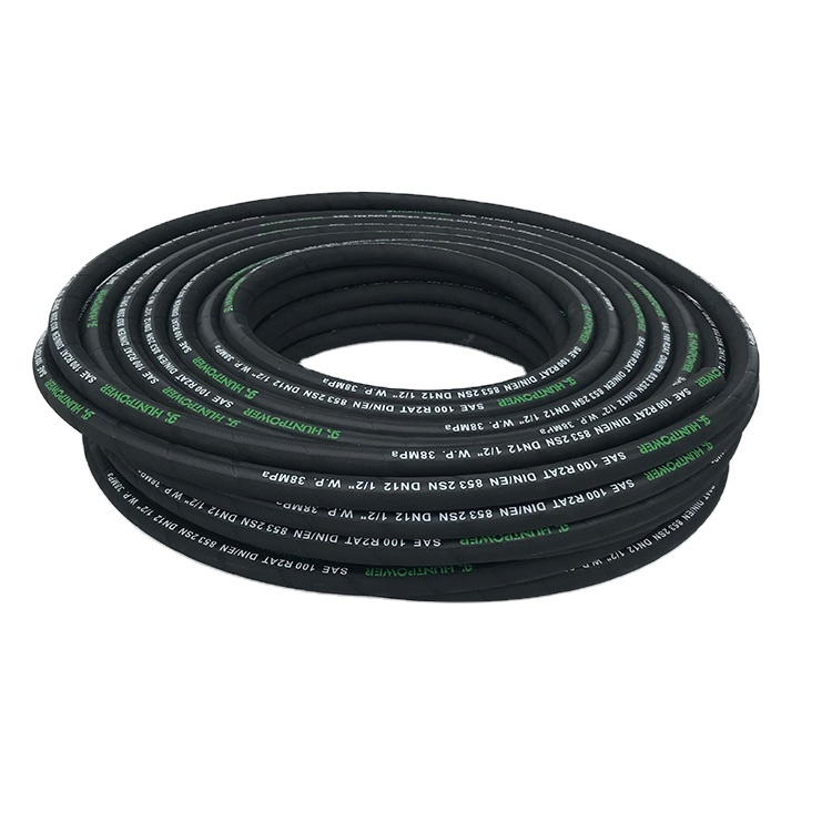 China Factory Direct  high pressure steel wire braided rubber hydraulic hose EN853 2SN SAE100 R2 AT