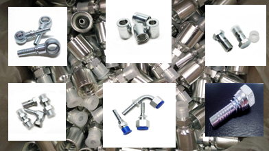 Haikuo hydraulic fittings, hose fitting, JIC, BSP, Metric, NPT, ferrules, flange
