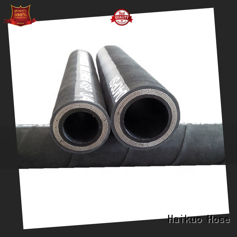 Haikuo new-arrival wire spiral hydraulic hose factory for audio areas