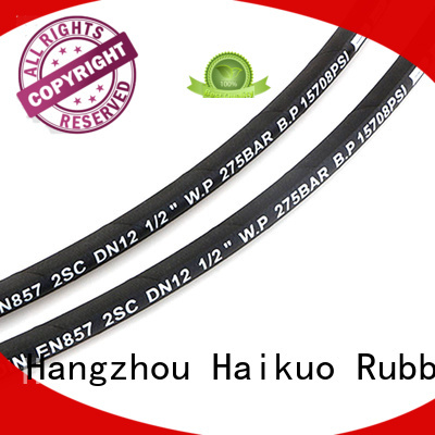 Haikuo stable 2 wire hydraulic hose owner for hardware