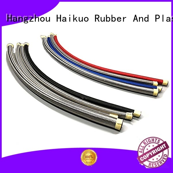 Haikuo r14 ptfe stainless steel braided hose factory price for lighting