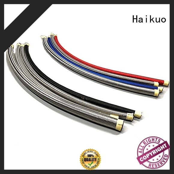 Haikuo industry-leading ptfe stainless steel braided hose factory price for motorcycles