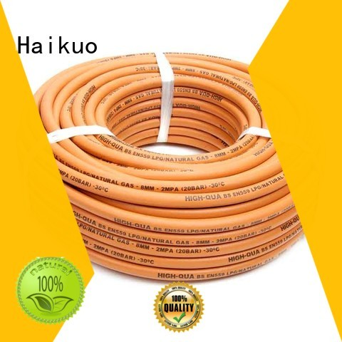 Haikuo oxyegnacetylenepropane rubber fuel hose manufacturer for aviation