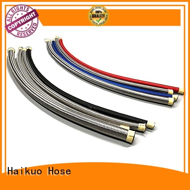 Haikuo steel ptfe stainless steel braided hose from China for lighting